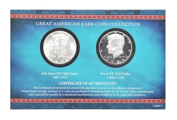 American Coin Treasure JFK Half Dollar 1965-1970 & Proof JFK Half Dollar S Mint -