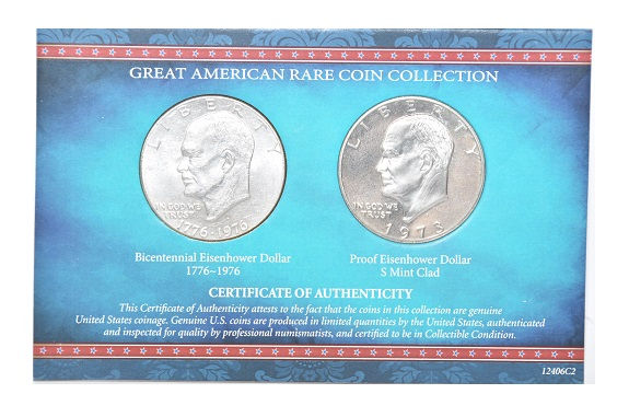Great American Rare Coin Bicentennial Eisenhower Dollar 1776-1976 -