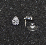 Lot of 78 Sets of Women's Solitaire Pear Shaped Sparkling Clear CZ Pendant -