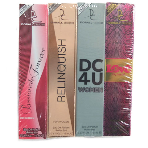 Dorall Collection Sampler Eau De Parfum Rollerball Set of 4 - New
