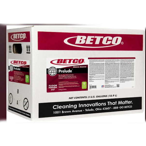 Betco Green Earth Prelude Cleaning Floor Finish and Sealer 5 GAL New Damaged Box - New other (see details)