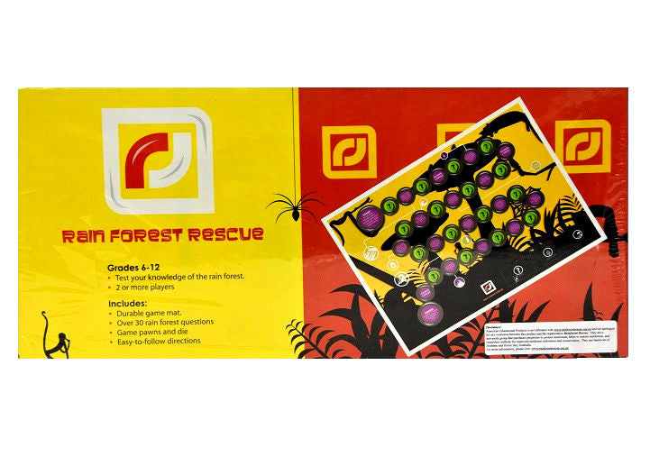 Rain Forest Rescue Board Game Grades 6-12 -