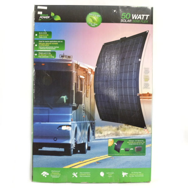 Nature Power 50-Watt Semi-Flex Solar Panel for 12-Volt Charging - New other (see details)