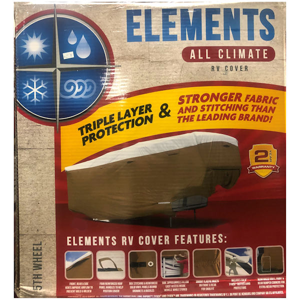 Elements Premium All-Climate Tyvek RV Cover 5th Wheel  Up To 23' -