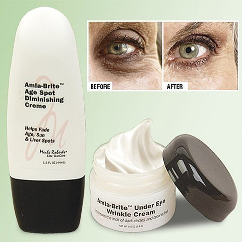 Merle Roberts' Amla-Brite 2 Piece Age Spot Diminishing & Under Eye Cream - New - World's Best Deals