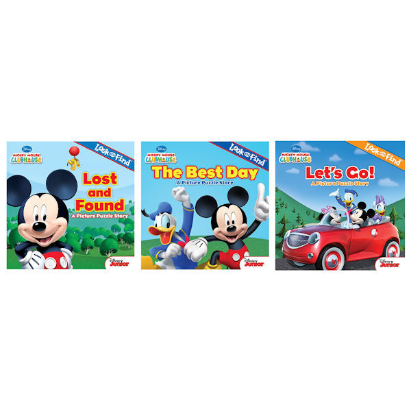 Mickey Mouse Clubhouse 3 Books Look and Found / The Best Day/Let's Go -