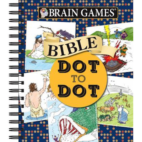 Brain Games - Bible Dot to Dot (Brain Games - Dot to Dot) Spiral-bound - Brand New