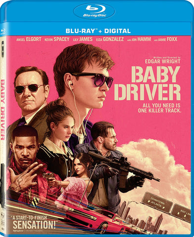 Baby Driver Blu-Ray Ansel Elgort, Lily James - Brand New