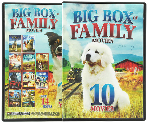 10-Big Box of Family Movies DVD Box Set Sam Elliott, Jerry O'Connell - Like New - World's Best Deals