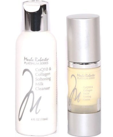 Merle Roberts 2 Pieces Softening Milk Cleanser & Facial Firming Creme Set - New