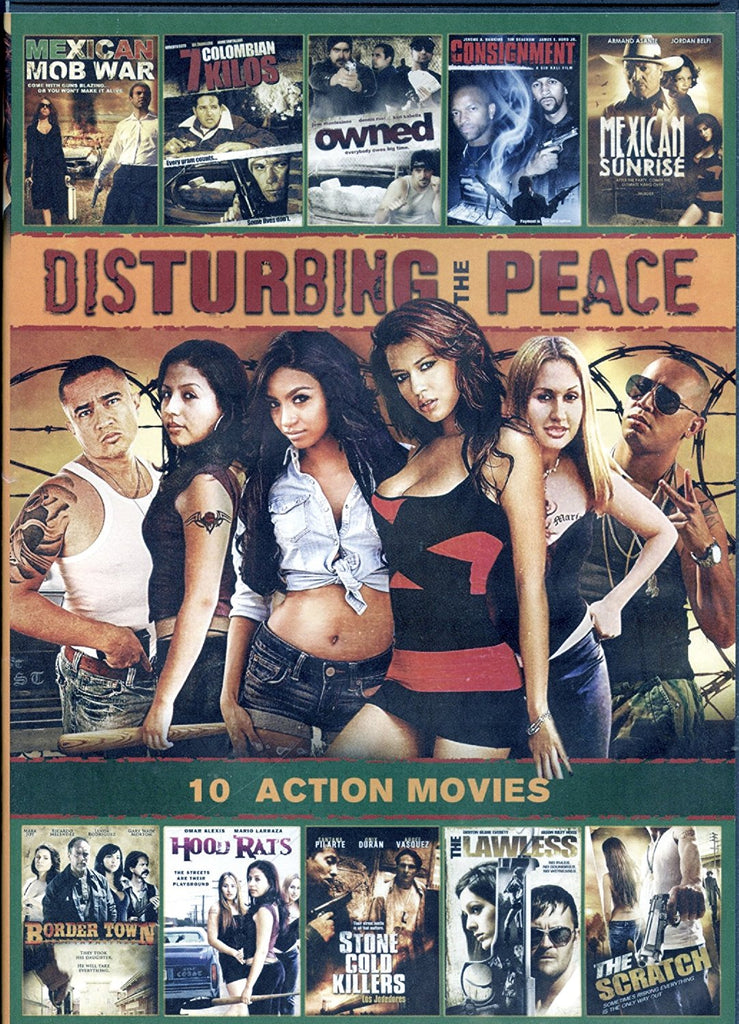 Disturbing The Peace: 10 Action Movie Collection DVD -
