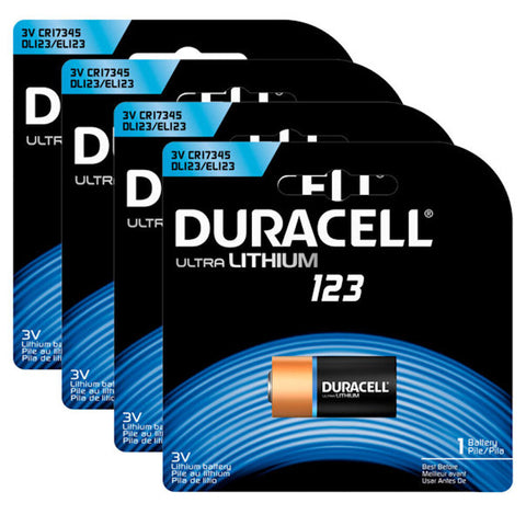 6 Pack - Duracell Coppertop Ultra Lithium 123 Battery - New