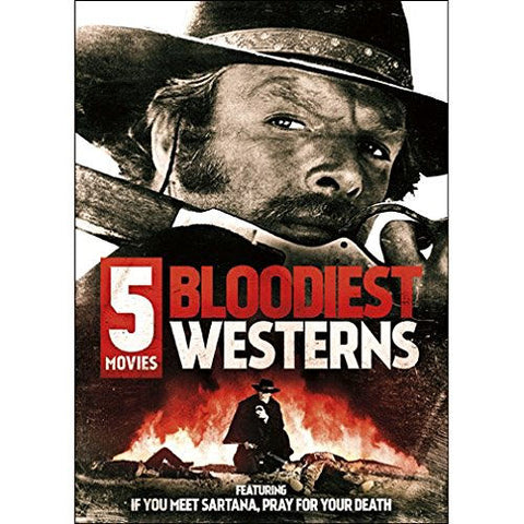 5-Movie Bloodiest Westerns DVD James Mitchum - Brand New