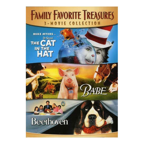 Family Favorite Treasures 3- Movie Collection DVD - Brand New