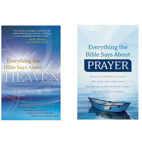 Everything the Bible Says About Prayer & Everything the Bible Says About Heaven - Brand New