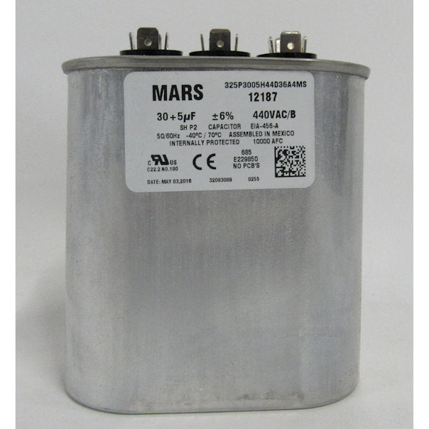 Mars 12187 Motor Run Capacitor 30/5 MFD - New