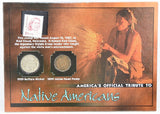 The Franklin Mint Tribute Native Americans 1929 Nickel 1899 Penny & 1987 Stamp -