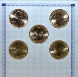 American Alliance Coin Set of 5 2015 D Quarters -