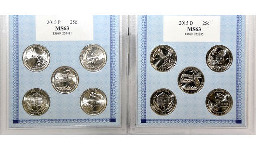 American Coin Treasure Set of Ten 2015 Quarters -