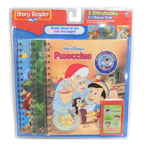 Story Reader 3 Storybooks Disney Pinocchio, Toy Story 2, The Jungle Book -