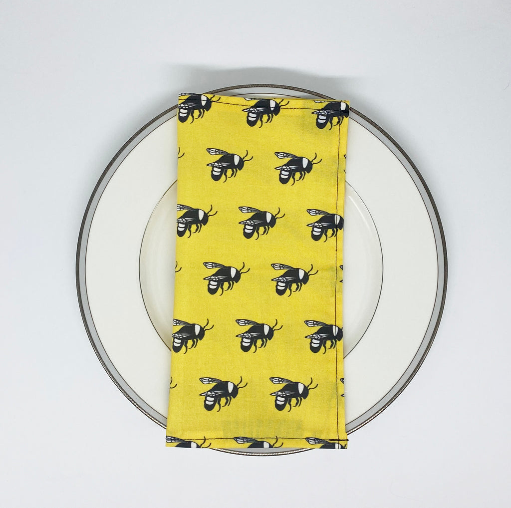 Bee cloth napkin