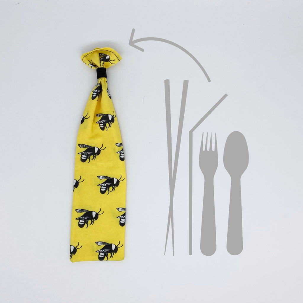 Bee Reusable Straw Case
