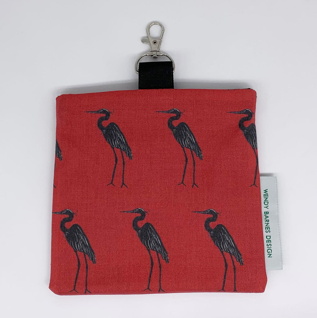 Great Blue Heron Keychain Bag