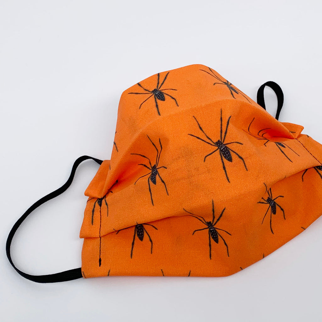 Child Face Mask with Spiders