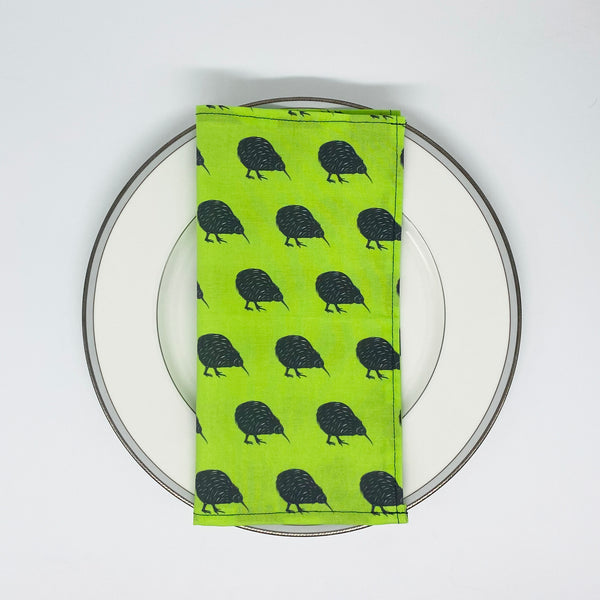 Kiwi bird napkins