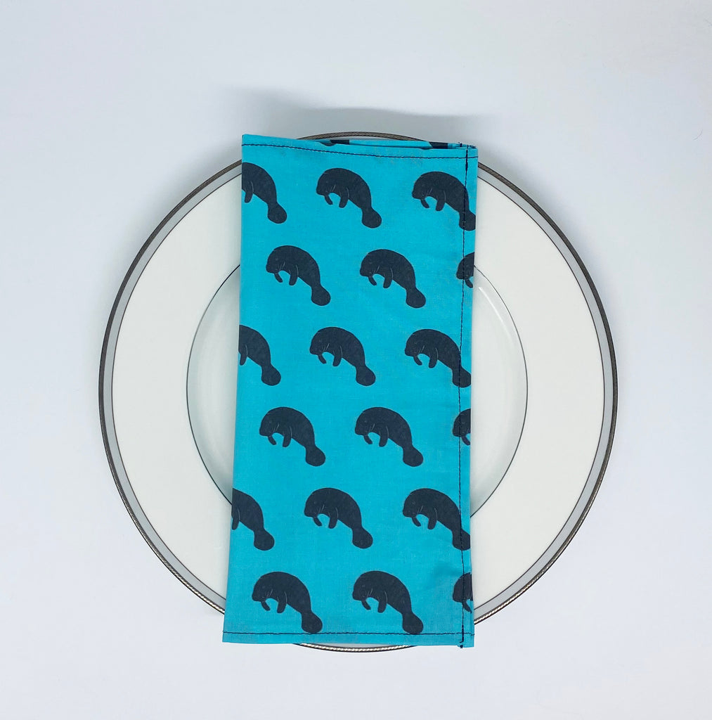 Manatee cloth napkin