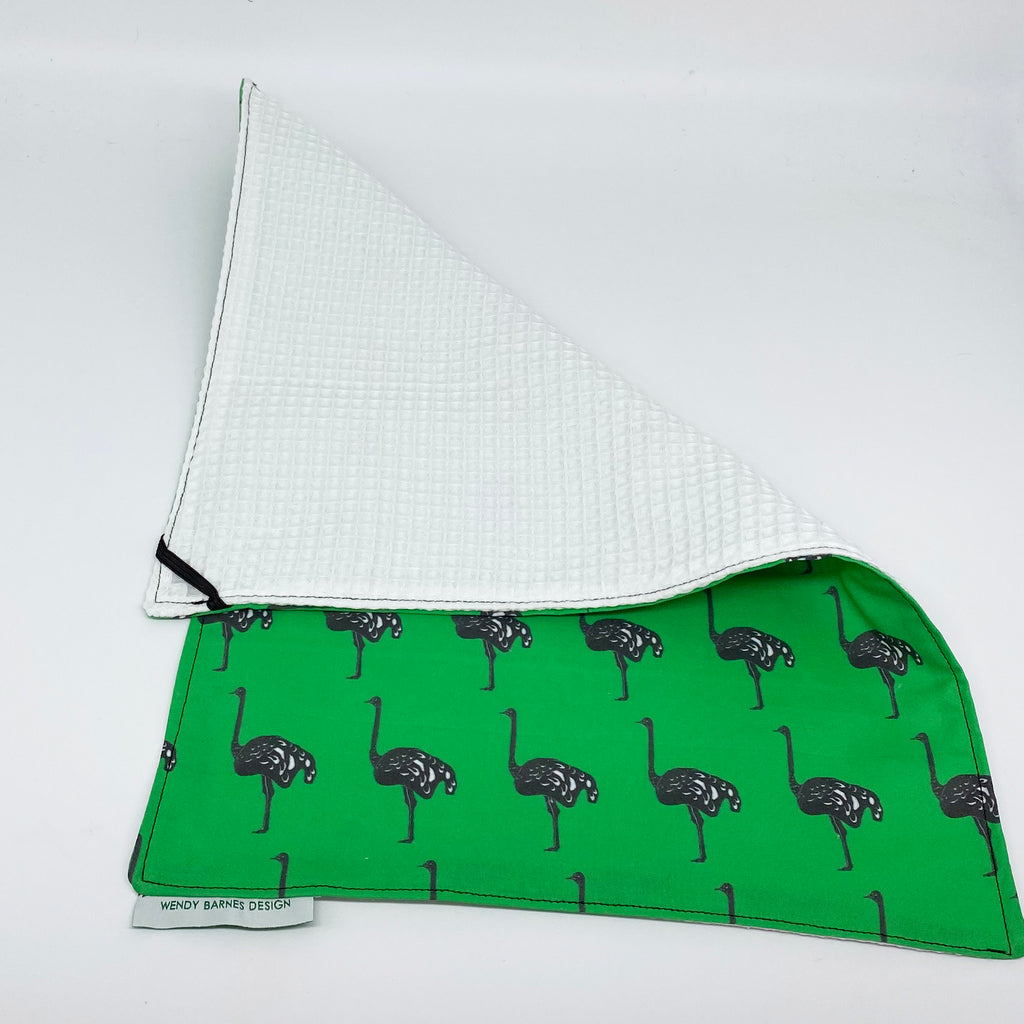 ostrich pattern towel