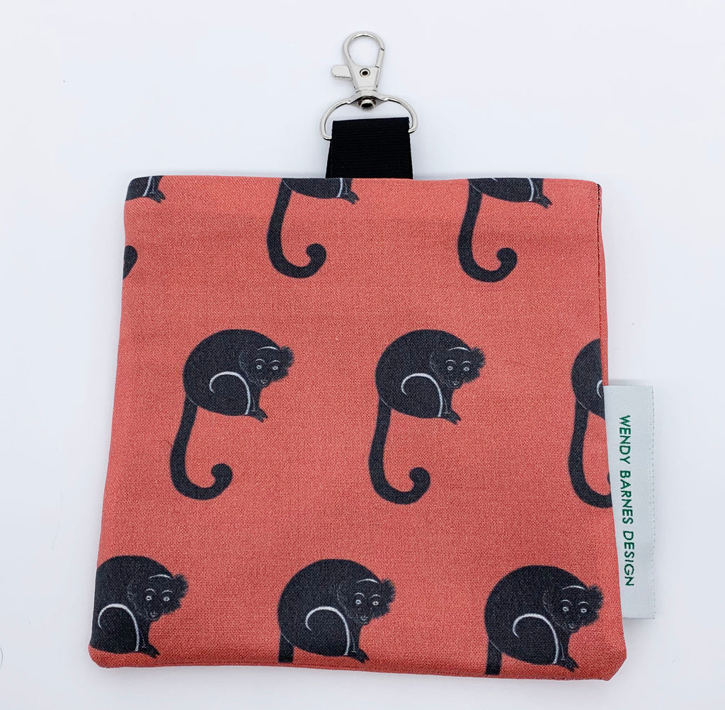 Red-ruffed Lemur Keychain Bag