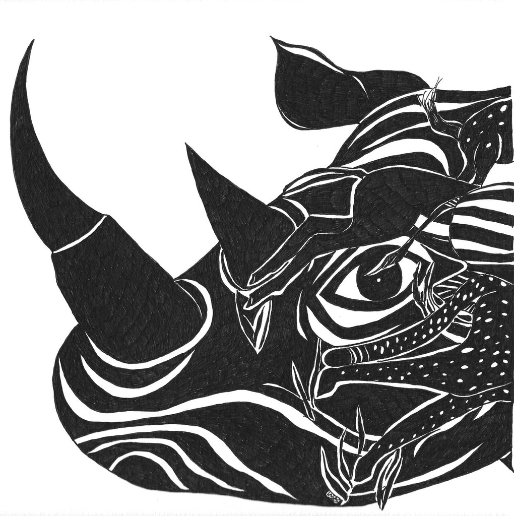 Rhino Umbrella Species giclee