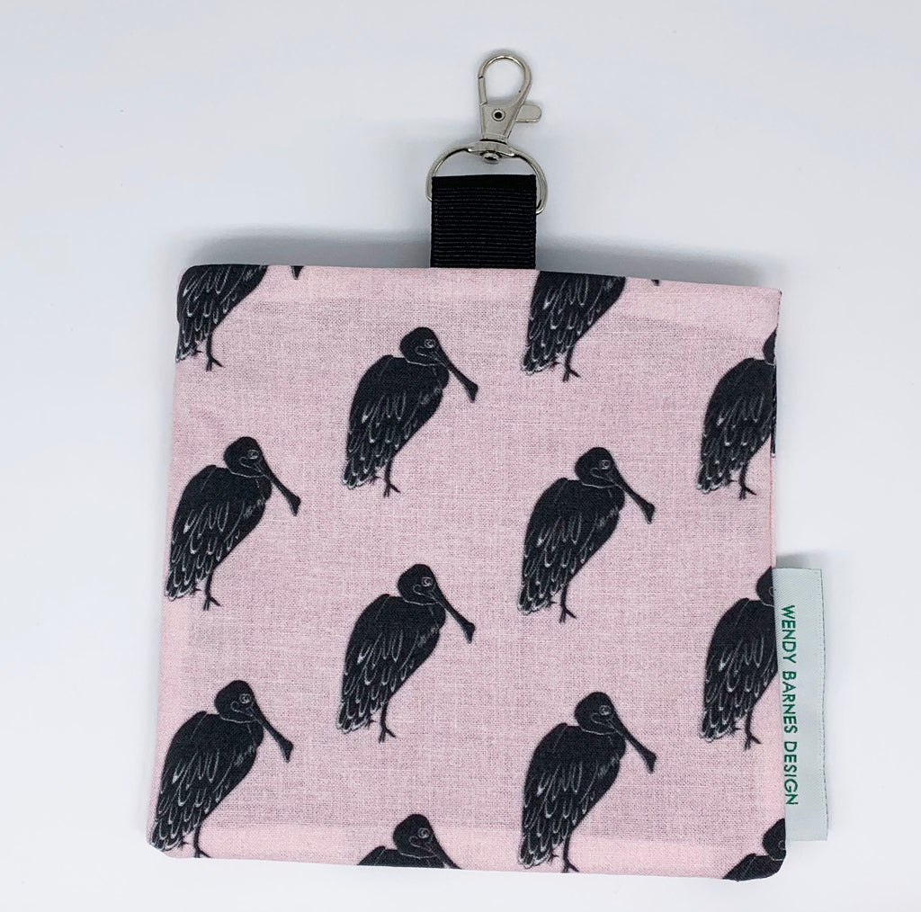 Roseate Spoonbill Face Mask Bag