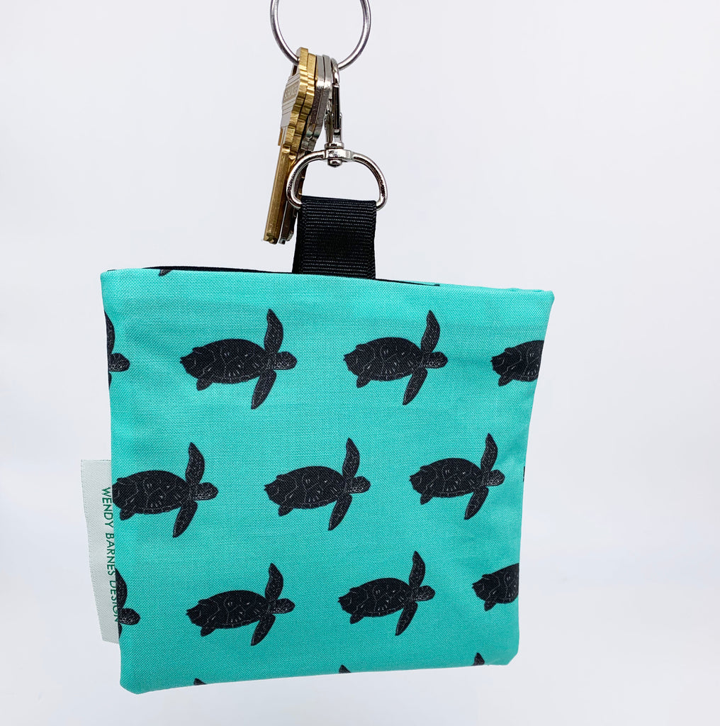Sea Turtle Keychain Bag