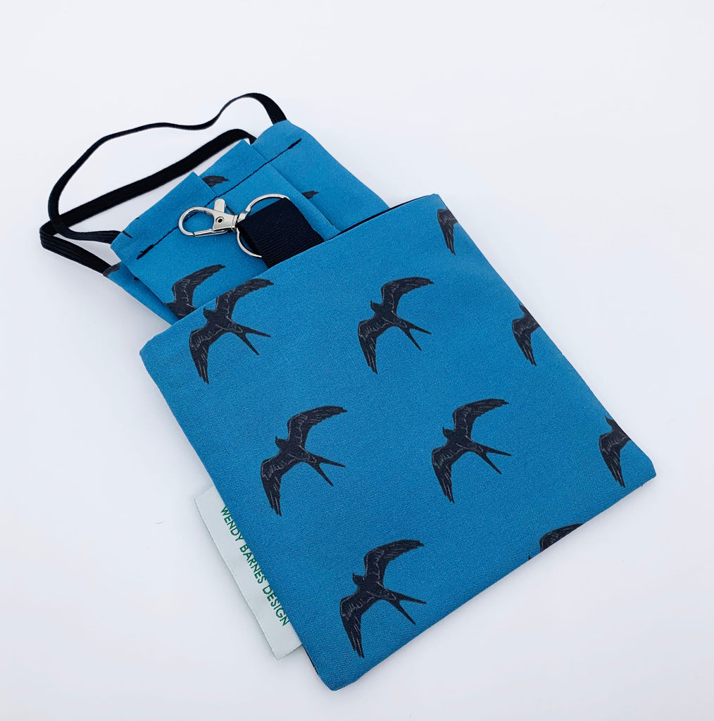 Swallow-tailed Kite Keychain Bag and mask