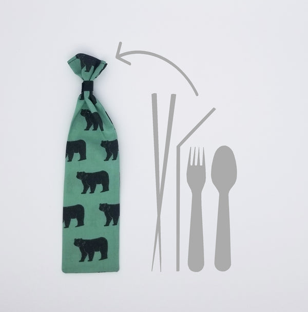 Bear Reusable Straw Case