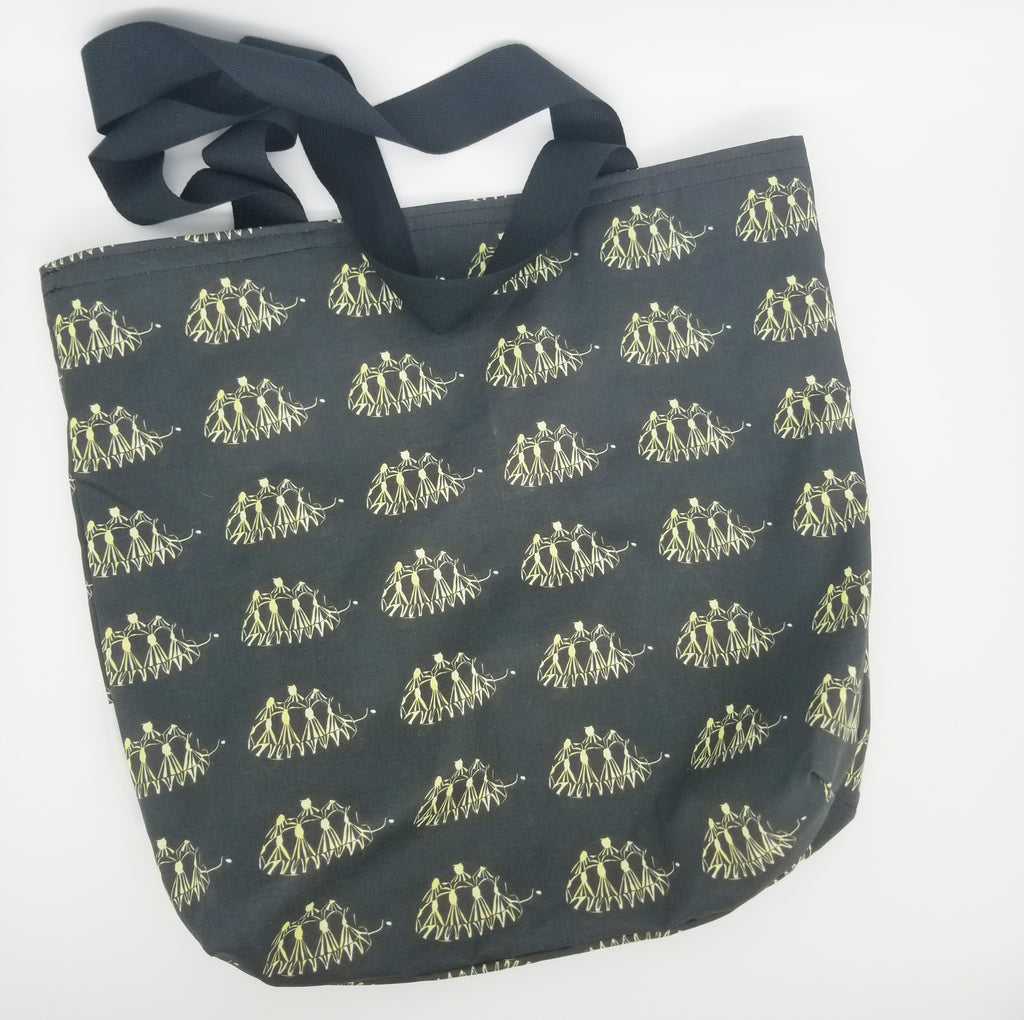 Radiated Tortoise pattern tote