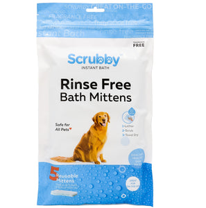 Scrubby Instant Bath Mittens for Pets   - -  5 mittens  - - FREE SHIPPING