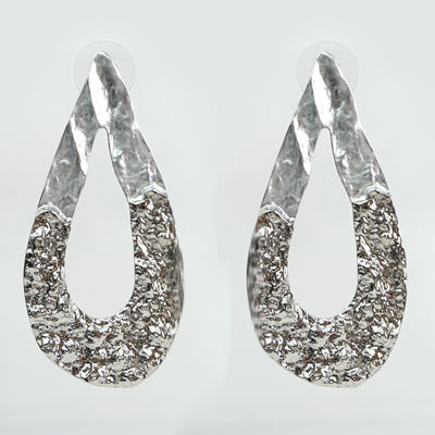 Large Silver Cut Out Earrings