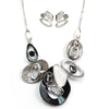 Black Multi Color Necklace & Earring Set