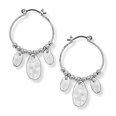 Makenna Silver Hoop Earrings (matching necklace available)