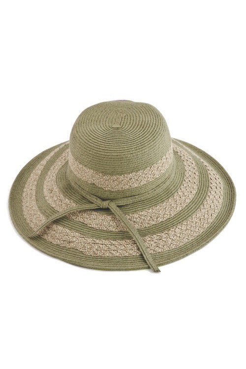 5859feb235a48 Womens  Two Tone Stripe Straw Floppy Sun Hat in red or sage – Lake ...