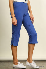 Capri Pants with Slight Flare (Cobalt Blue or Black)