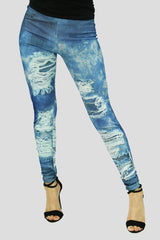 Torn Look Leggings