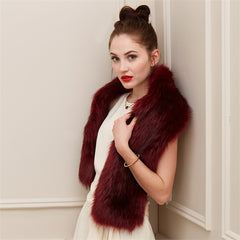 Red Carpet Faux Fur Stole