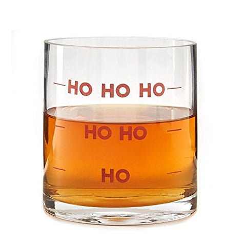 Ho, Ho Ho, Double Old Fashion glass