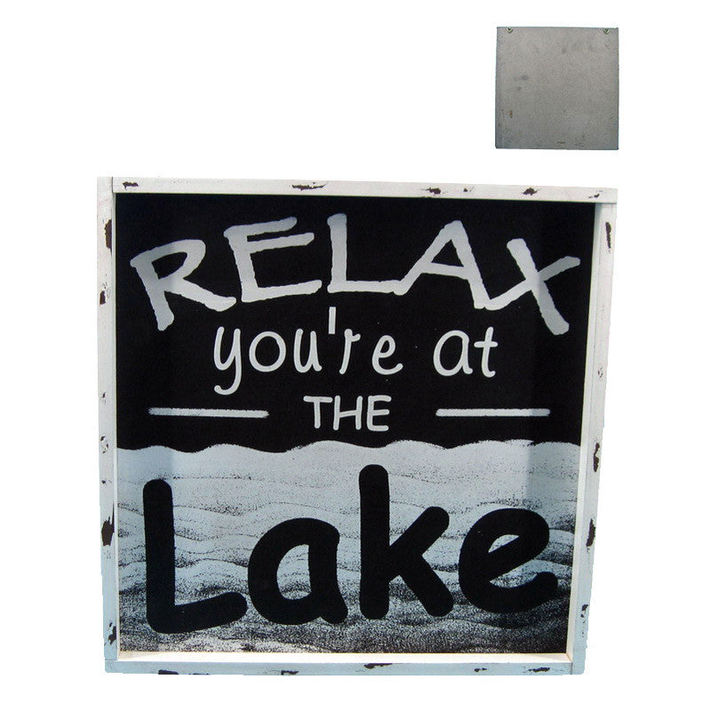 Relax You're At The Lake - Wall Plaque