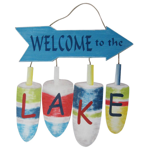 WELCOME TO THE LAKE BUOY WALL PLAQUE