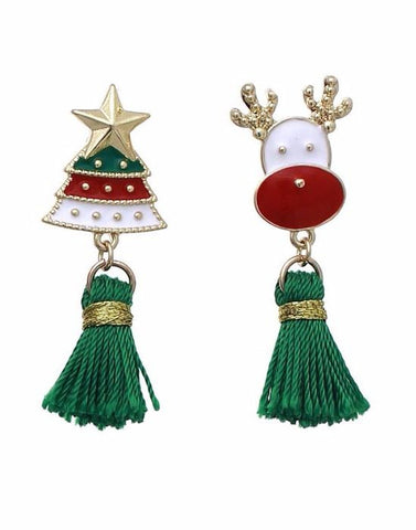 Holiday Tassle Earrings